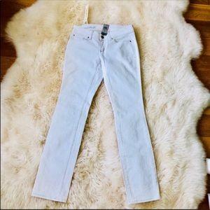 🆕NWT Ann Taylor Modern Fit Slim leg white jeans